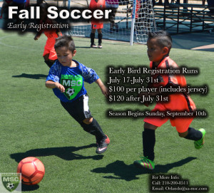 Fall Soccer Early registration ad